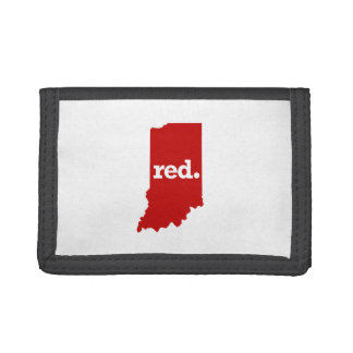 インディアナの赤い州 ナイロン三つ折りウォレット