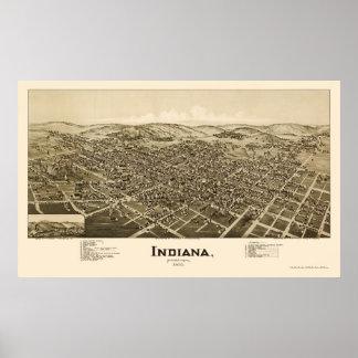 インディアナのPAのパノラマ式の地図- 1900年 ポスター