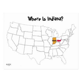 インディアナはどこにありますか。 ポストカード
