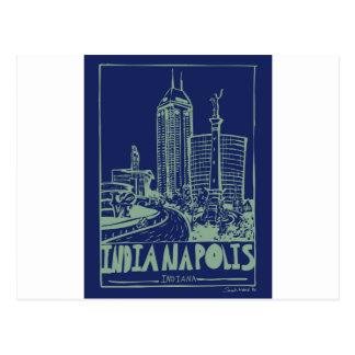 インディアナポリスの郵便はがき ポストカード