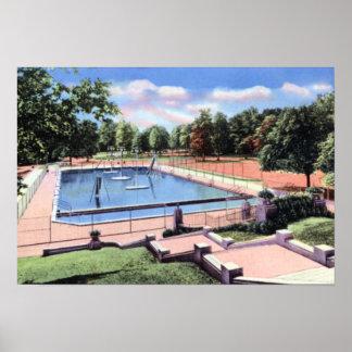 インディアナポリスインディアナガーフィールド公園のプール1940年 ポスター