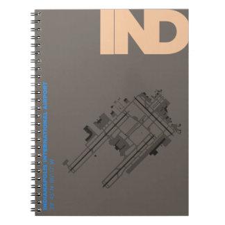 インディアナポリス空港(IND)図表のノート ノートブック