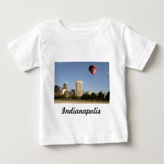 インディアナポリス都市スカイライン ベビーTシャツ