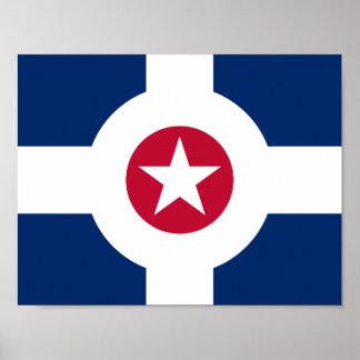 インディアナポリス、インディアナの旗 ポスター