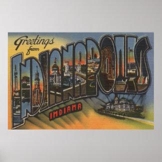 インディアナポリス、インディアナ-大きい手紙場面3 ポスター