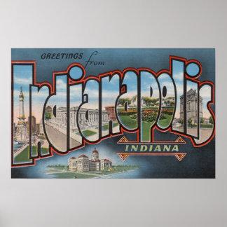 インディアナポリス、インディアナ-大きい手紙場面4 ポスター
