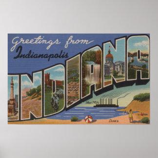 インディアナポリス、インディアナ(製鉄所か砂丘) プリント