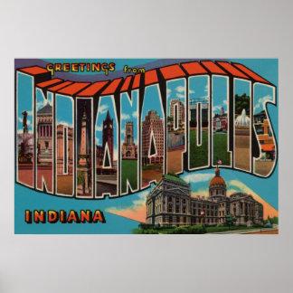 インディアナポリス、インディアナ(重要な建物) ポスター