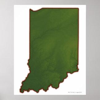 インディアナ3の地図 ポスター