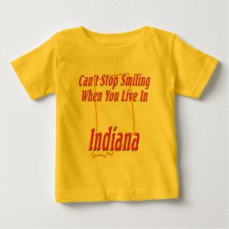 インディアナ-微笑します ベビーTシャツ