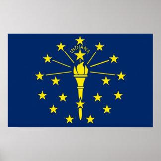 インディアナ、米国の旗が付いているポスター ポスター