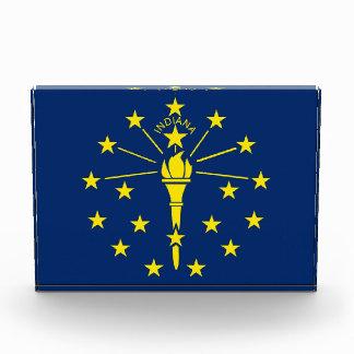 インディアナ、米国の旗が付いている賞 表彰盾