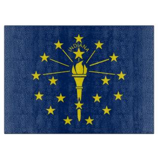 インディアナ、米国の旗を持つガラスまな板 カッティングボード