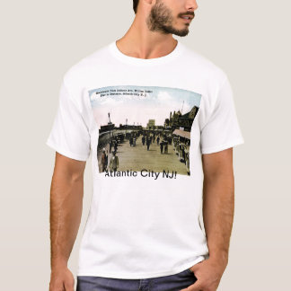 インディアナAveの遊歩道、アトランティック・シティのヴィンテージ Tシャツ