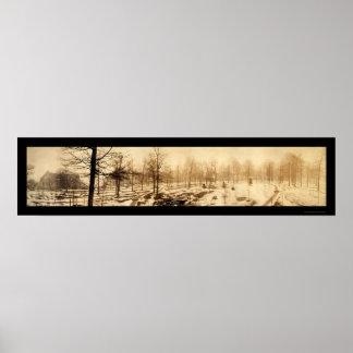 インディアナUnivの雪の写真1909年 ポスター
