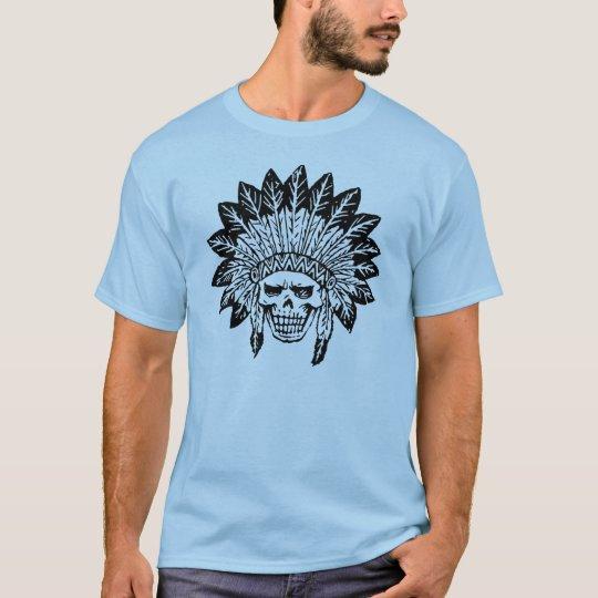 インディアンのスカル Tシャツ