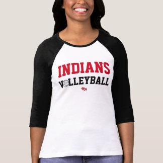 インディアンのバレーボールのプライドの衣服(女性) Tシャツ