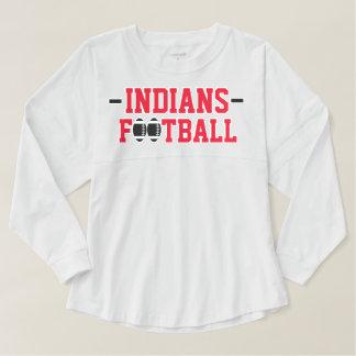 インディアンのフットボール-白 スピリットジャージー