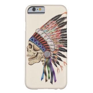 インディアンの酋長のスカルのiPhone6ケース Barely There iPhone 6 ケース