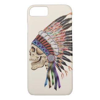 インディアンの酋長のスカルのiPhone 7の場合 iPhone 8/7ケース