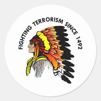 インディアンの酋長の戦いのテロリズム ラウンドシール