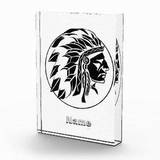 インディアンの酋長の頭部 表彰盾