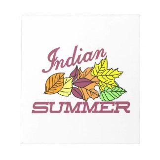 インディアンサマー ノートパッド
