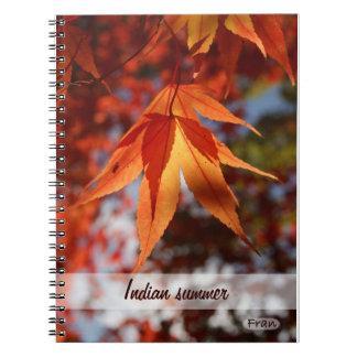 インディアンサマー ノートブック