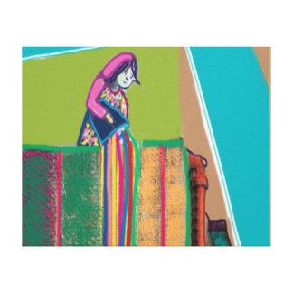 インディアン:   色のしぶきのHOLIのフェスティバル キャンバスプリント