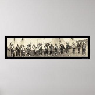 インディアンAstoriaか写真1911年 ポスター