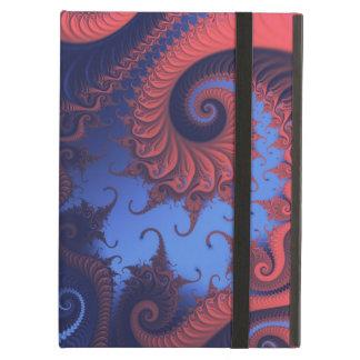 インディゴおよび珊瑚のフラクタル iPad AIRケース