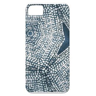 インディゴのドット・パターン iPhone SE/5/5s ケース