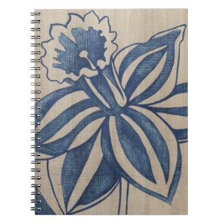 インディゴのラッパスイセン ノートブック