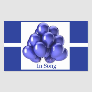 インディゴのリボン-歌の… 長方形シール