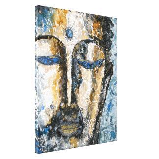 インディゴの仏の水彩画のキャンバスプリントのプリント キャンバスプリント