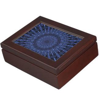 インディゴの円形浮彫り ジュエリーボックス