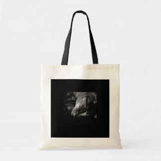インディゴの黒く及び白い広告 トートバッグ