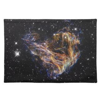 インディゴは星の残骸の雲を研ぎました ランチョンマット