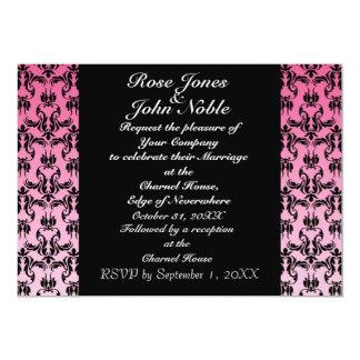 インディゴIVの(ピンクの)結婚式招待状 カード