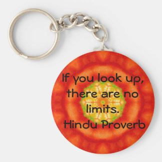 インドからの感動的なヒンズー教の諺 キーホルダー