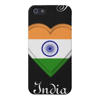 インドのインドのマンガの旗の女の子 iPhone SE/5/5sケース