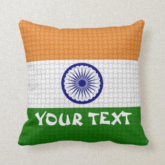 インドのインドの旗: 文字を加えて下さい クッション