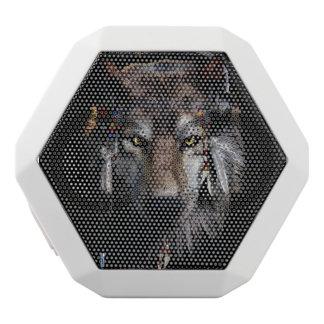 インドのオオカミ-オオカミ ホワイトBluetoothスピーカー