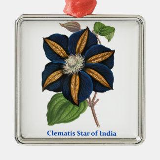 インドのクレマチスの星 メタルオーナメント