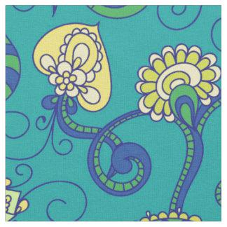 インドのスタイル、bohoの上品、青いパターン ファブリック