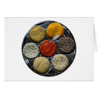 インドのスパイスの皿カード カード