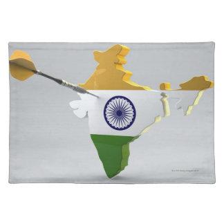 インドのデジタル合成物 ランチョンマット