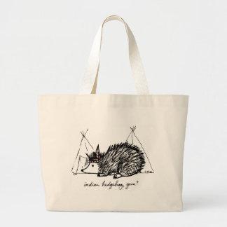 インドのハリネズミの遺伝子のバッグ ラージトートバッグ