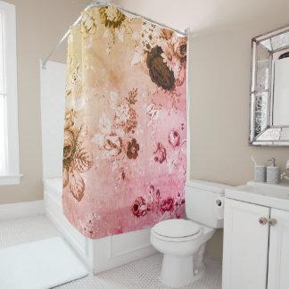 インドのピンクの日没植物の花のToile No.4 シャワーカーテン
