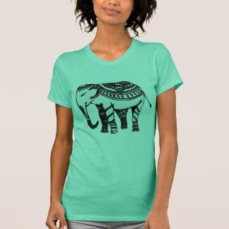 インドのモチーフのカジュアルなTシャツ Tシャツ